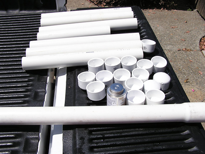 Measure and cut the tubing to fit inside your cooler