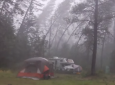 When A Major Storm Tears Through Their Campsite This Cameraman Starts Laughing