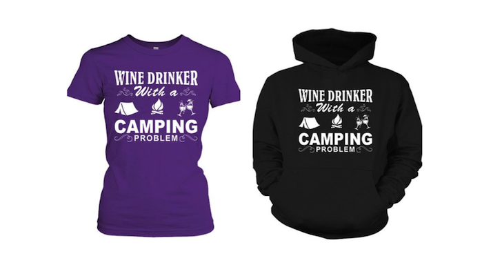 Funniest Camping Saying Of All Time: Wine Drinker With A Camping Problem!