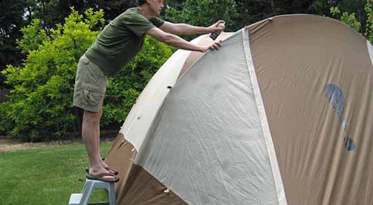 How To Waterproof Your Tent With A Silicone Based Product