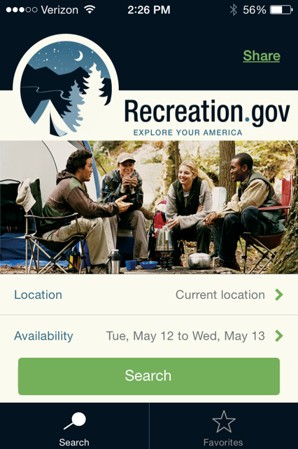 camping trip planning app