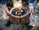 Grill Anywhere With Burnie, The Portable Self Burning Wood Grill